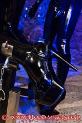 NEON ART girl Daniela high heels