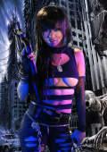 Mandy in fantasy blacklight horror pics